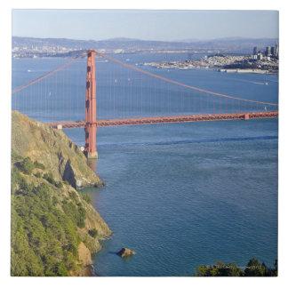 Golden Gate Bridge and San Francisco. 2 Large Square Tile