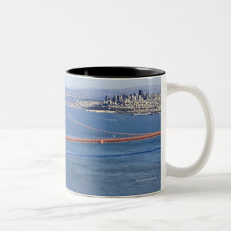 Golden Gate Bridge and San Francisco. 2 Two-Tone Coffee Mug