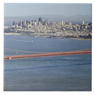 Golden Gate Bridge and San Francisco. 3 Large Square Tile