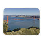 Golden Gate Bridge and San Francisco. 4 Rectangular Photo Magnet