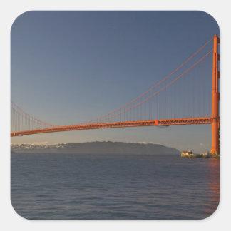 Golden Gate Bridge and San Francisco 5 Square Sticker