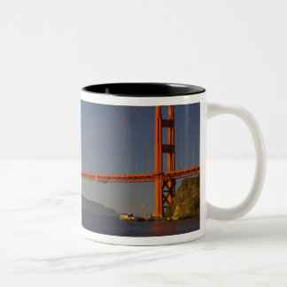 Golden Gate Bridge and San Francisco 5 Two-Tone Coffee Mug