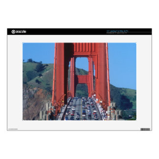 "Golden Gate bridge and San Francisco Bay 15"" Laptop Decal"