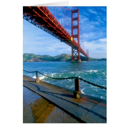 Golden Gate bridge and San Francisco Bay 2 Card