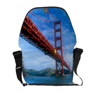 Golden Gate bridge and San Francisco Bay 2 Courier Bag