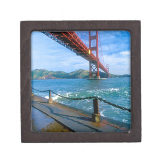 Golden Gate bridge and San Francisco Bay 2 Keepsake Box