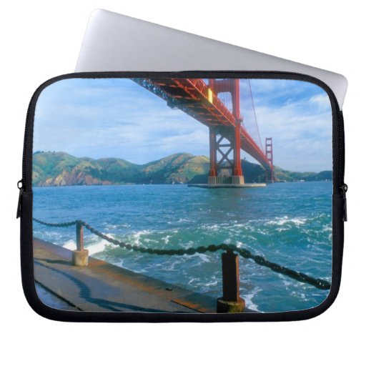 Golden Gate bridge and San Francisco Bay 2 Laptop Computer Sleeve