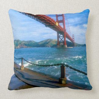 Golden Gate bridge and San Francisco Bay 2 Pillow