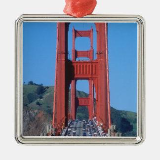 Golden Gate bridge and San Francisco Bay Metal Ornament