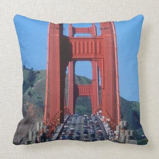 Golden Gate bridge and San Francisco Bay Throw Pillows