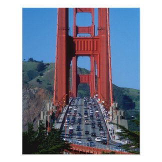 Golden Gate bridge and San Francisco Bay Poster