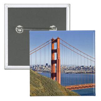 Golden Gate Bridge and San Francisco. Button