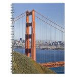 Golden Gate Bridge and San Francisco. Spiral Notebook