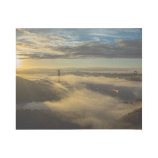 Golden Gate Bridge at dusk photography Gallery Wrap