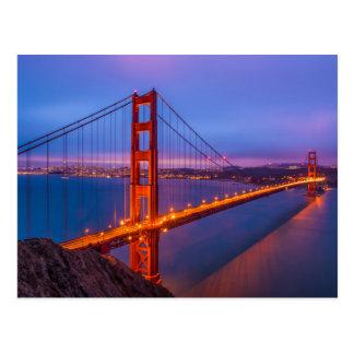 Golden Gate Bridge at Dusk Postcard