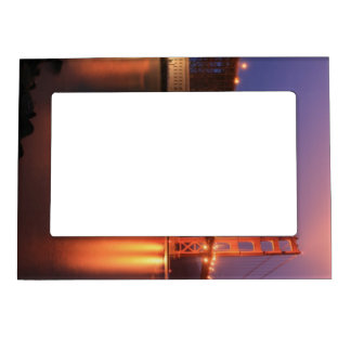 Golden Gate Bridge at Night Magnetic Picture Frame