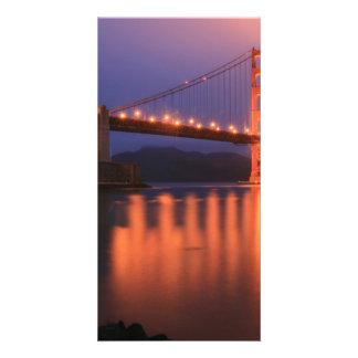Golden Gate Bridge at Night Photo Greeting Card