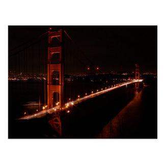 Golden Gate Bridge at Night Post Cards