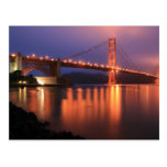 Golden Gate Bridge at Night Postcards