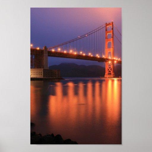 Golden Gate Bridge at Night Print