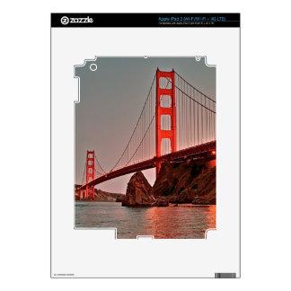 Golden Gate Bridge at Sun Down iPad 3 Decal