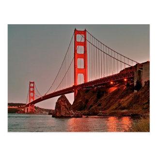 Golden Gate Bridge at Sun Down Postcard