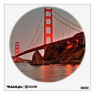 Golden Gate Bridge at Sun Down Room Graphic