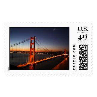 Golden Gate Bridge at Sunrise Postage