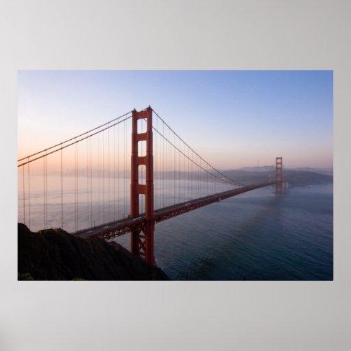 Golden Gate Bridge at Sunrise print/poster Poster