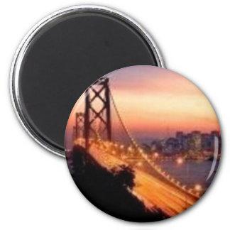 Golden Gate Bridge at Sunset 2 Inch Round Magnet