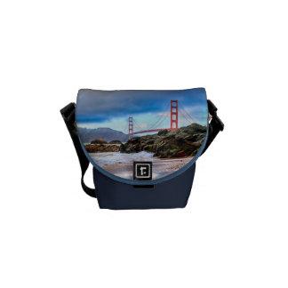 Golden Gate Bridge at sunset Courier Bag