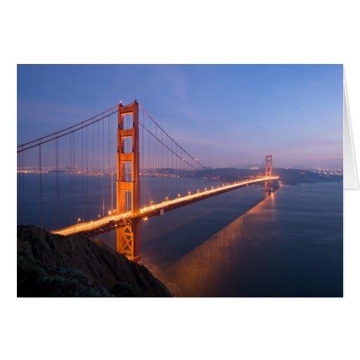 Golden Gate Bridge at Sunset greeting card