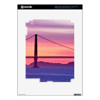 Golden Gate Bridge at Sunset iPad 3 Decal