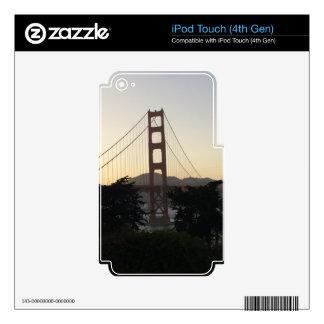 Golden Gate Bridge at Sunset iPod Touch 4G Skins