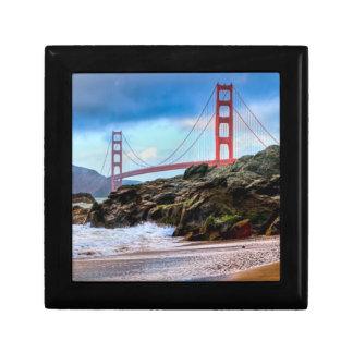 Golden Gate Bridge at sunset Keepsake Box