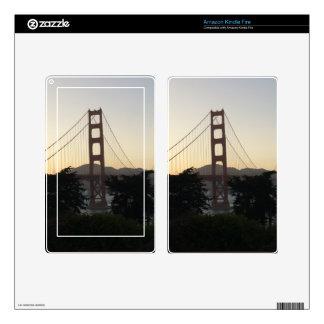 Golden Gate Bridge at Sunset Kindle Fire Skins