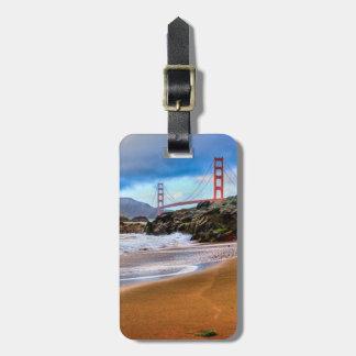 Golden Gate Bridge at sunset Bag Tags