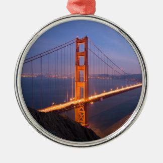 Golden Gate Bridge at Sunset Christmas Ornaments