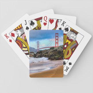 Golden Gate Bridge at sunset Playing Cards