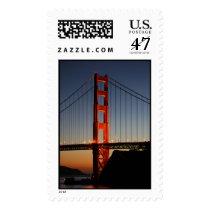 Golden Gate Bridge at Sunset Postage