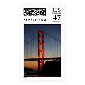 Golden Gate Bridge at Sunset Postage