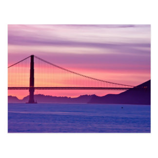 Golden Gate Bridge at Sunset Postcard