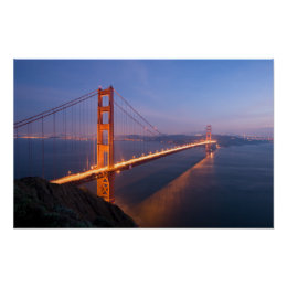 Golden Gate Bridge at Sunset Poster