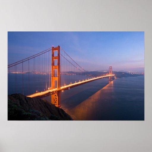 Golden Gate Bridge At Sunset Poster Zazzle