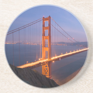 Golden Gate Bridge at Sunset Sandstone Coaster