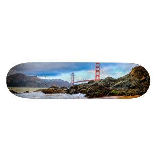 Golden Gate Bridge at sunset Skateboard Deck