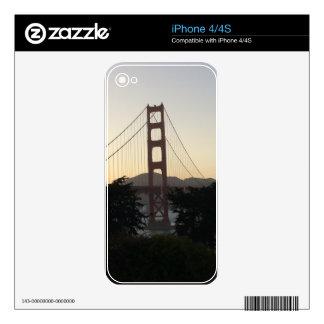 Golden Gate Bridge at Sunset Skins For iPhone 4S