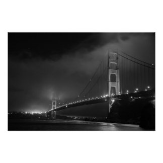 Golden Gate Bridge B&W Poster