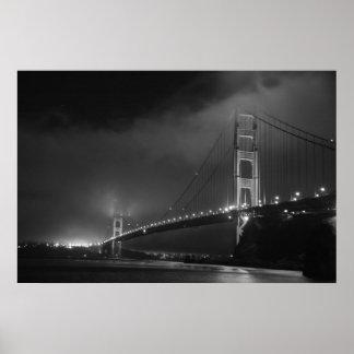 Golden Gate Bridge B&W Poster