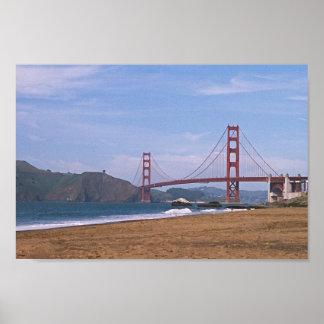 Golden Gate Bridge - Baker's Beach Poster